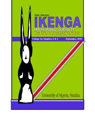 ikenga journal of african studeis vol 11 no 1 u0026 2 public