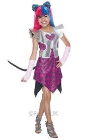 Catty Noir Girls Fancy Dress Monster High Halloween Childs Kids