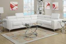 cream sectional sofa poundex f7250 cream sectional sofa set adjustable head rests ebay