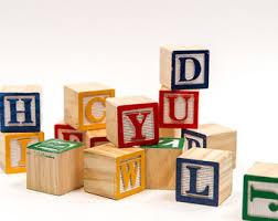wooden baby blocks etsy