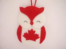 felt owl ornament canada flag owl by ynelcas natal