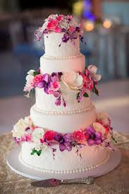 Flower Cakes Cakes U0026 Desserts Photos Pink U0026 Purple Sugar Flower Cake Inside