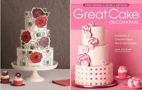 Stamped Cake Tutorial with 2D Floral Appliques by Erin Gardner