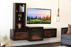 beauteous tv stand with floating shape concept combined white