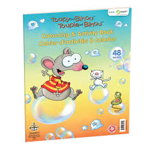 jeux de société colouring pad toopy and binoo preschool