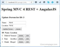 tutorial java spring hibernate mvc 4 rest angularjs hibernate 4 integration crud tutorial with
