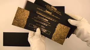 islamic wedding invitations d 6607 black color muslim cards muslim wedding cards islamic