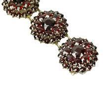 garnet bracelet silver images Vintage czech silver gilt garnet bracelet gem set love jpg