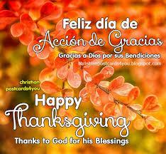 card happy thanksgiving feliz día de acción de gracias