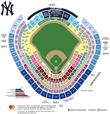 stadium floor plan yankee stadium seating map mlb com