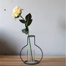 online shop black metal iron flower plant vase pot stand holder