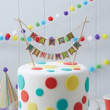 birthday cake decorations happy birthday kraft cake bunting by party parlour ireland