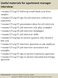 Sample Resume For Property Manager by Top 8 Apartment Manager Resume Samples