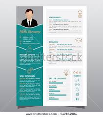 vector original minimalist cv resume template stock vector