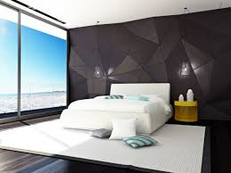 Bed Back Wall Design Bedroom Designs Unique Wall White Moder Bed Modern Bedroom Ideas