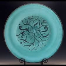 ceramic platters blue platter natalie studios