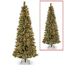 how many lights for a 6 foot tree 6 5 foot powerconnect dual color led light slim glittering pine tree
