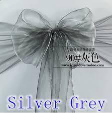 cheap chair sashes for sale silver grey colour chair sashes organza sash wedding party