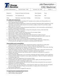 Cnc Machinist Resume Template Cnc Operator Machinist Job Description Sample Xpertresumes Com
