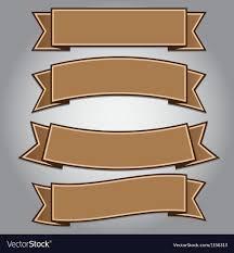 brown ribbon vintage brown ribbon banner royalty free vector image