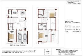 South Facing House Floor Plans Residential Villas In Coimbatore 3bhk U0026 4bhk Individual Villas