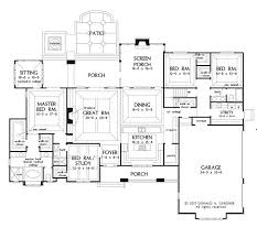 large one story house plans plan of the week the chesnee 1290 story house screened porches