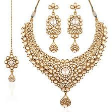 women necklace set images Buy i jewels traditional gold plated kundan necklace set with jpg