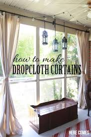 What Kind Of Fabric To Make Curtains Drop Cloth Porch Curtains Porch Curtains Porch And Drop
