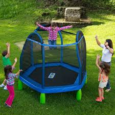 best kids trampoline with bar active play time