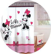 Mini Mouse Curtains by Shower Curtains For Your Home Mickey Mouse Shower Curtain
