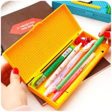 pencil cases japanese pencil creative diy bricks kids school pencil