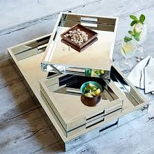 Gold Coffee Table Tray by Mirror Trays West Elm