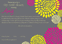 nice sample gift card baby shower invitation wording modern ideas