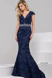 gorgeous floor length form fitting navy mermaid evening gown with