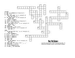 ser vs estar puzzle pack by the profe store llc tpt