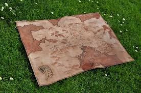 leather map empire larp leather map by jakari on deviantart
