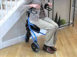 senior walkers with seat flight 3 wheel rollator goldviolin