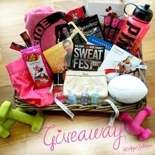 fitness gift basket angie bellemare fitness giveaway