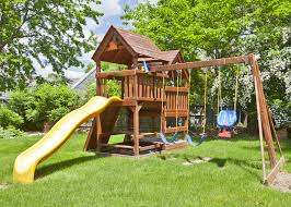 Kids Backyard Play Set by How To Build A Safe Backyard Play Area For The Kids The Money Pit