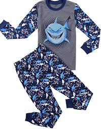halloween pajamas for kids amazon com babypajama shark little boys u0027 pajama sets 100 cotton