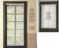 Patio French Doors With Built In Blinds by Amazon Com Magnetic Window Blinds White 25