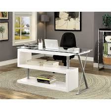 Swivel Computer Desk Furniture Of America Fiora Modern Swivel Computer Desk In White