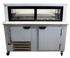 Refrigerated Prep Table by Cooltech 1 1 2 Door Glass Box Display Refrigerated Sandwich Prep