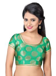 readymade blouses green brocade readymade blouse 93016