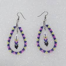 hoop beaded earrings best beaded hoop earring designs products on wanelo