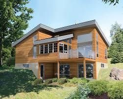 ce magnifique chalet de style urbain recouvert de bois ne manque