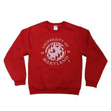 Red White Black Flag University Of Maryland Flag Red Globe Sweatshirt U2013 Route One Apparel