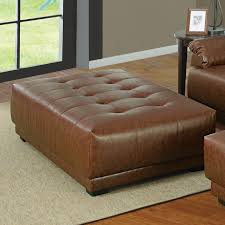 Leather Ottomans The Most Light Brown Leather Ottoman Decorate Moneyuk Info