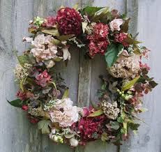floral wreath hydrangea wreath floral door decor victorian