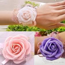 Wrist Corsage Supplies Wedding Banquet Bridal Bridesmaid Flower Wrist Corsage Wrist